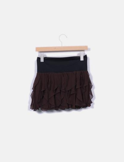 Bebe Mini-saia mini chiffon com folhos (desconto de 82%) - Micolet 1efc0e07875f9