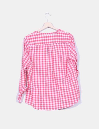 Camisa cuadros rosas y blancos