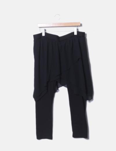 Calça preta saia de godets Zara