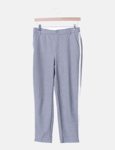 Pantalón chino gris banda lateral