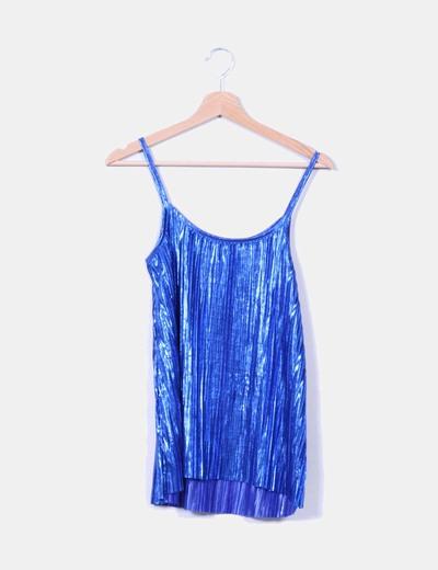 Top azul glitter de tablas H&M