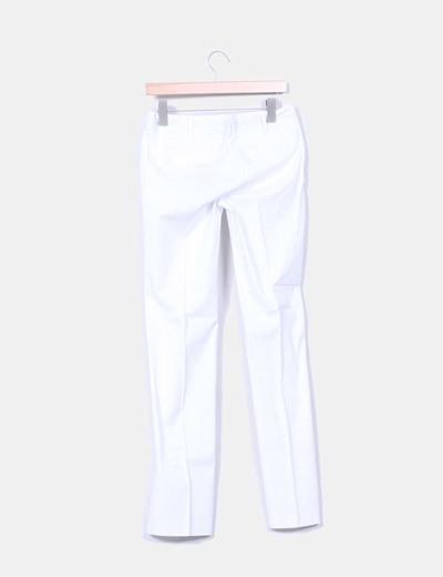 Pantalon blanco con raya diplomatica