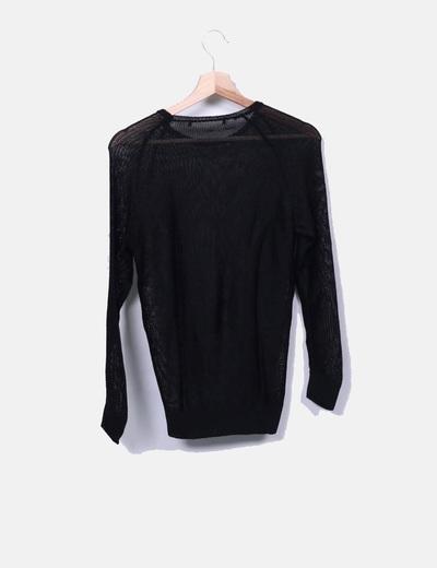 Camiseta de malla negra