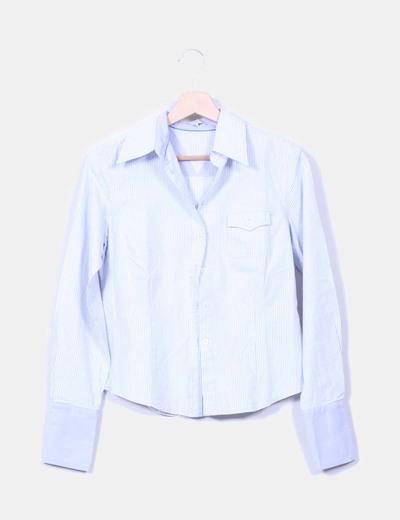 Camisa azul claro de rayas Zendra