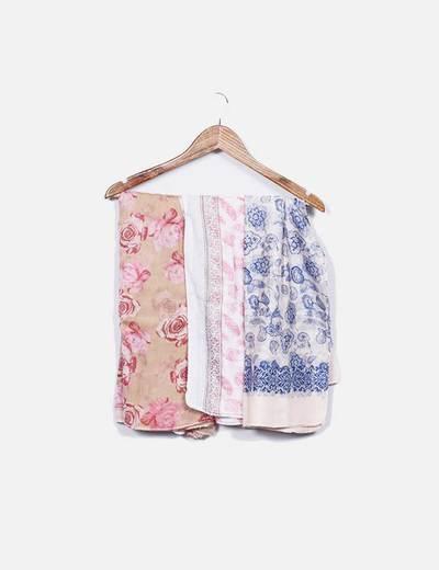 Pack 3 lenços de flores NoName