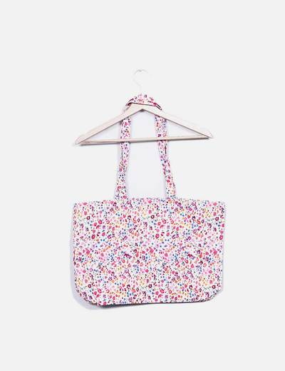 Bolso shopper floral