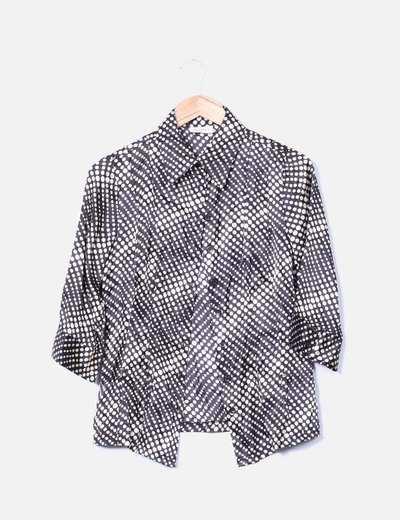 Camisa satinada print topos C&A