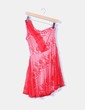 Vestido rojo asimétrico de encaje NoName
