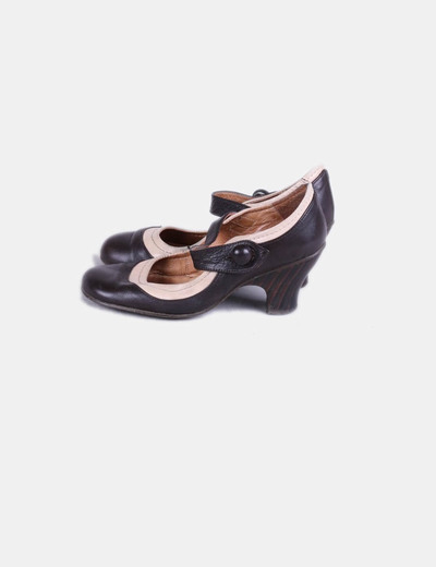 Chaussures deux couleurs bout rond de Nemonic