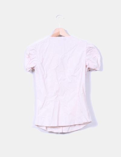 Camisa nude manga corta