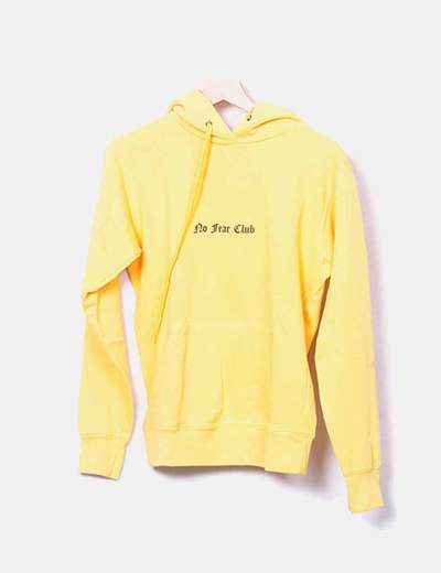 Sweat-shirt jaune avec motif dos Fruit Of The Loom