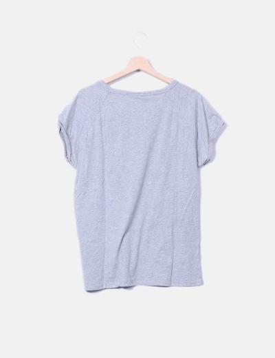 Camiseta gris de manga corta print