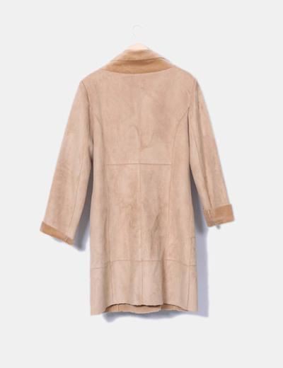 Abrigo beige largo doble faz