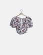 Blusa corta blanca estampado floral Fórmula Joven