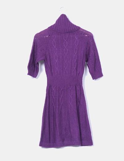 Vestido morado de punto