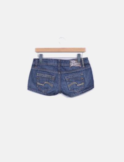 Shorts denim efecto desgastado