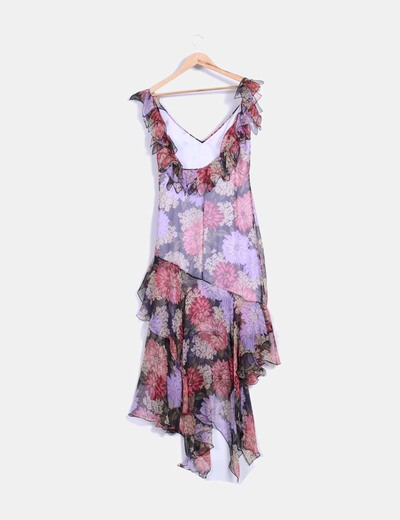 Vestido floral avolantado
