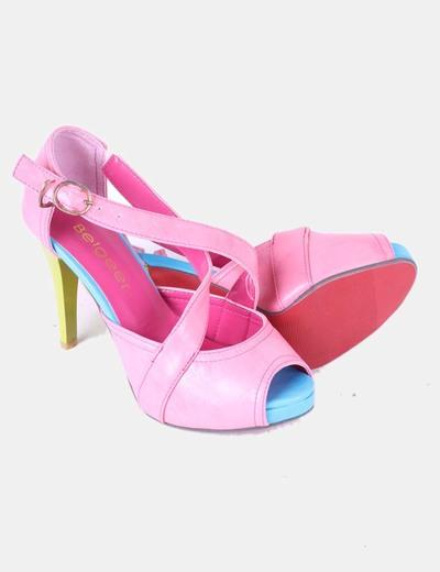 Zapato peep toe multicolor