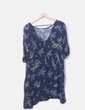 Vestido azul marino floral Shana