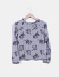 Sudadera gris estampada Lefties