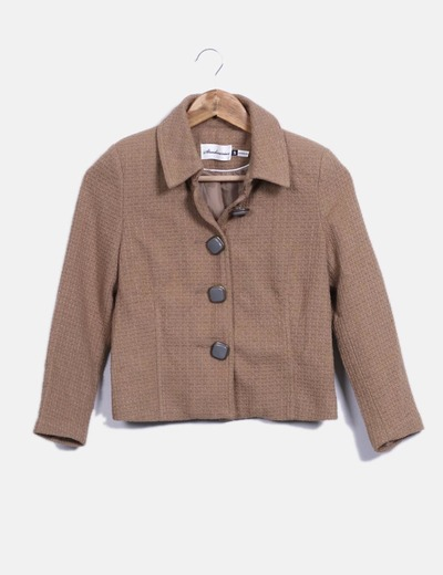 Chaqueta tweed color camel Stradivarius