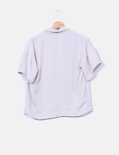 Blusa oversize efecto arrugado