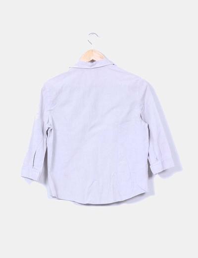 Camisa gris manga francesa