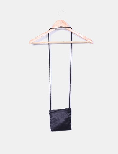 Mini bolso negro con pailettes