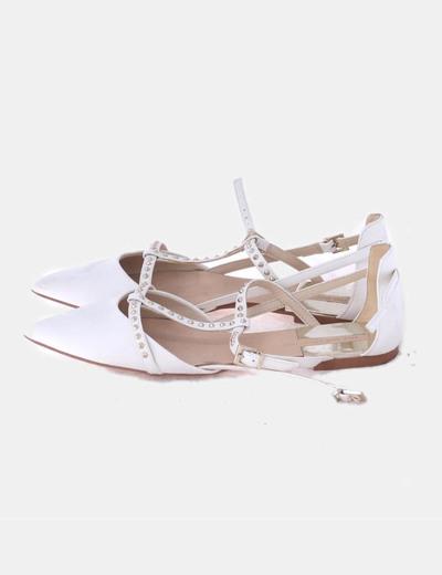 Bailarinas blancas con tachas