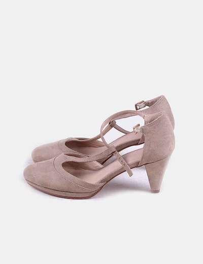 Zapatos de tacón taupe
