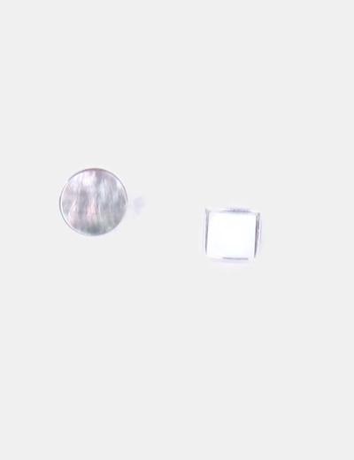 Conjunto de 2 anillos nacarados