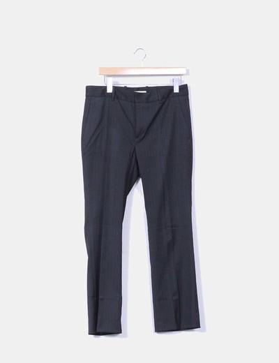Pantalón negro raya diplomatica Zara