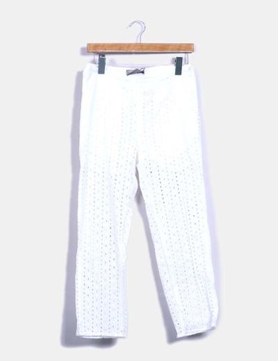 Pantalons blancs guipur Vero Moda
