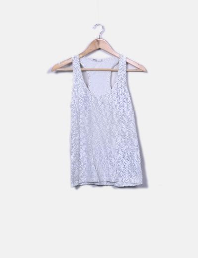 Camiseta blanca con topos Lefties