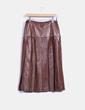 Chaqueta cuero y falda, traje 2 piezas DINOTTE