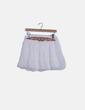 Falda de gasa blanca detalle bordado Suiteblanco
