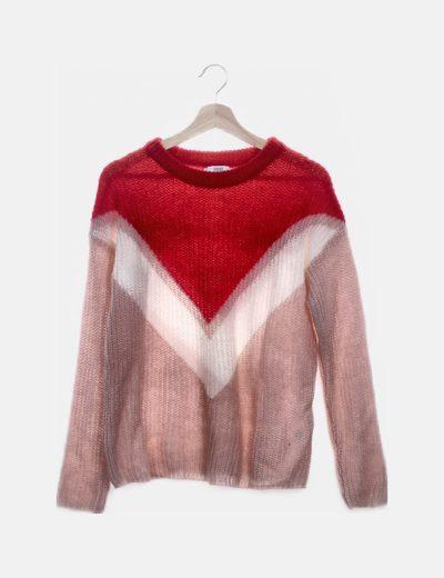 Jersey lana tricolor