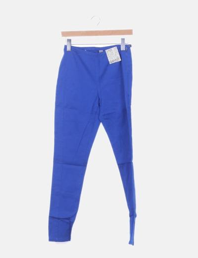 Pantalón azul high waist