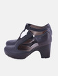 Zapato gris con tacón Clarks