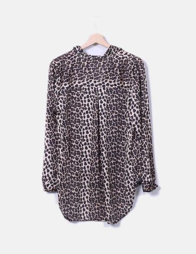 Blusa fluida leopardo