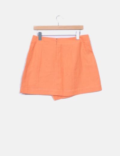 Falda cruzada naranja combinada