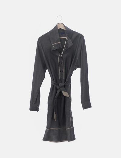 Vestido bicolor con manga larga