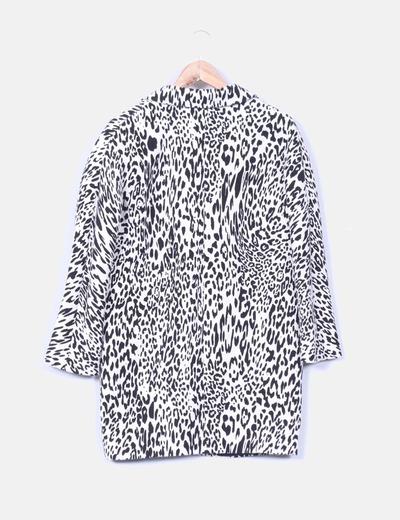 Abrigo animal print blanco