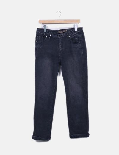 Jeans denim gris recto Max Mara