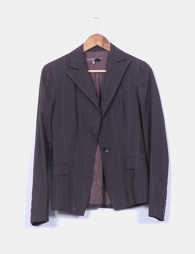 Blazer marrón con raya Zara