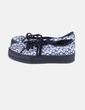 Chaussures florales avec la plate-forme Lefties