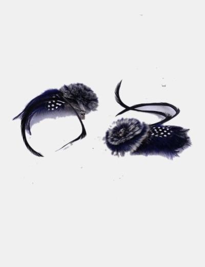 Broches de plumas para botines NoName