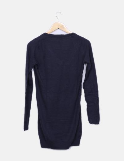 Vestido marinero tricot azul marino