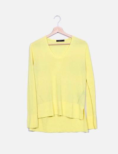 Camisola de malha amarela Zara