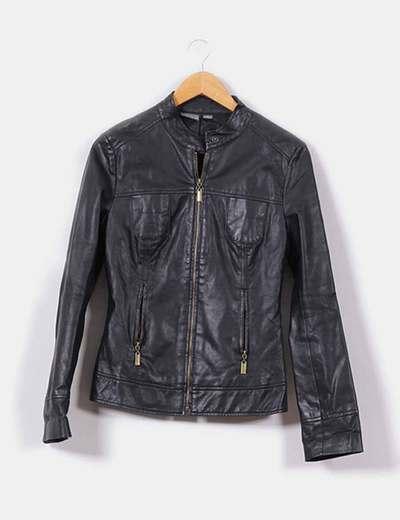 Cazadora biker negra  Venca